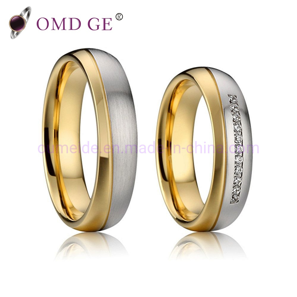 e5afe4d9a6e [Hot Item] Fashion Gold Silver Playted Wedding Rings Jewelry for Men and  Women