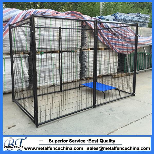 China 6 Ft Black Powder Coated Welded Wire Modular Dog