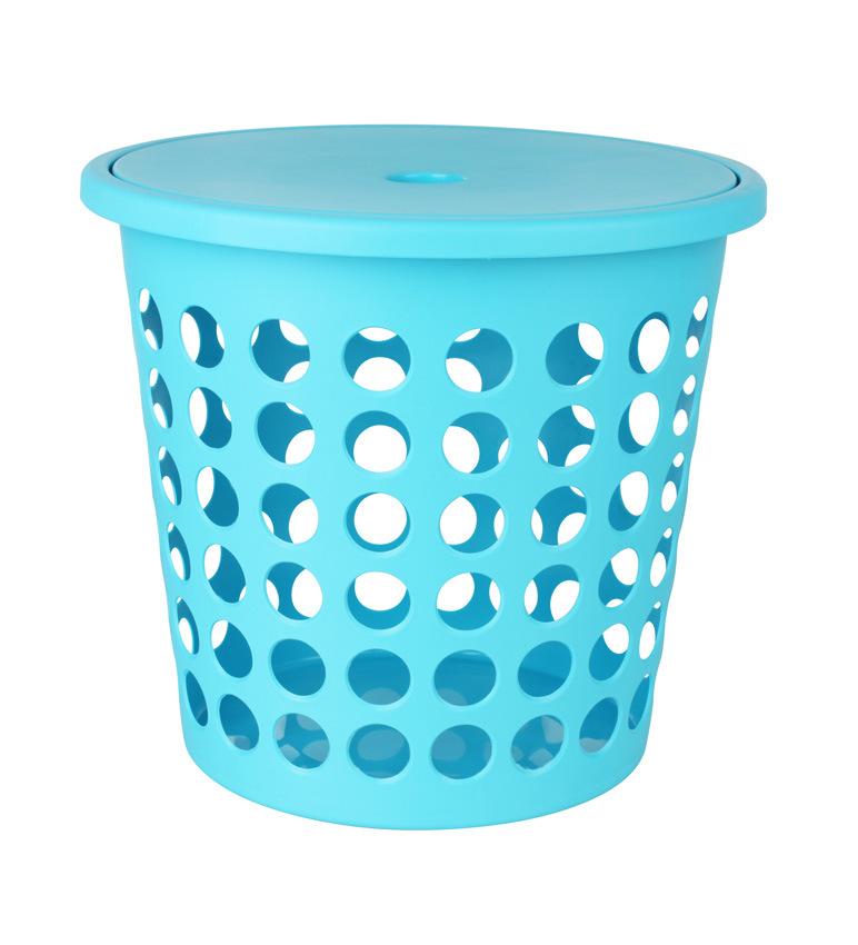China Laundry Basket Round Hole With Lid Le59881 Plastic