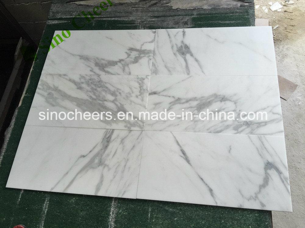 China Professional Luxury Polished Italian Calacatta White Marble