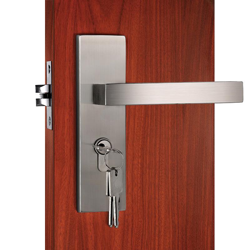 China Stainless Steel Plate Mortise Door Lock Interior Handle Door