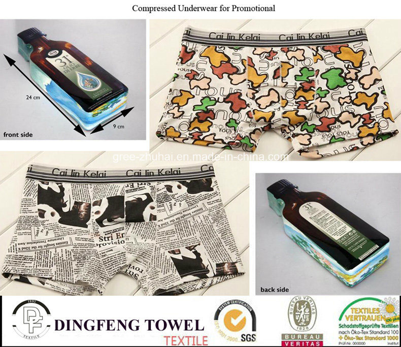 2016 Promotional Gift Compressed Traveling Printed Underwear Df-2028
