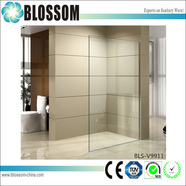 European Style Corner Shower Wall Tempered Glass Shower Door Shower Screen