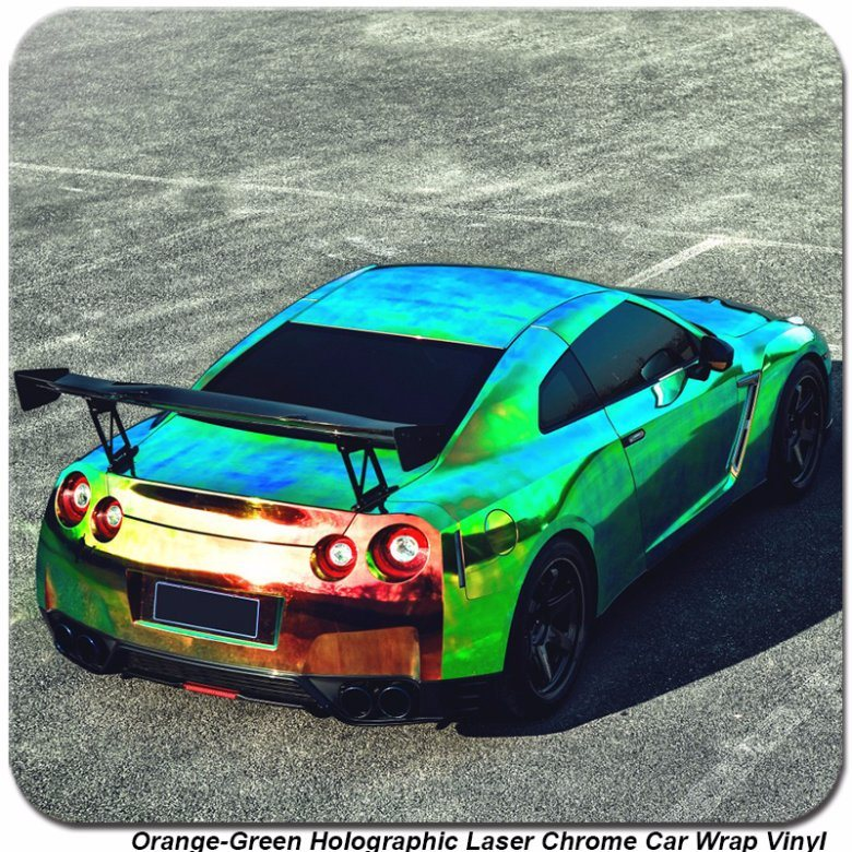 China Tsautop 1 42 20m Orange Green Holographic Laser Chrome Car