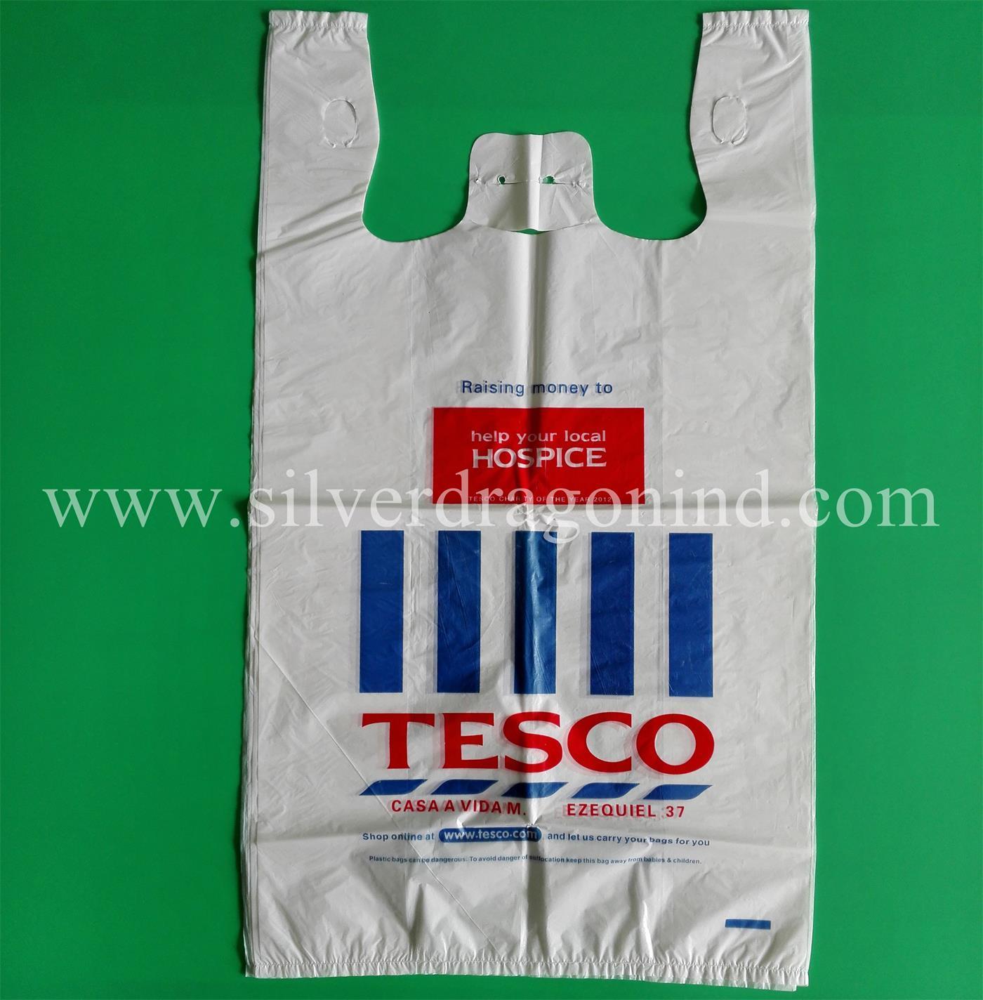 China Custom Printed Plastic T Shirt Bags For Shopping China T