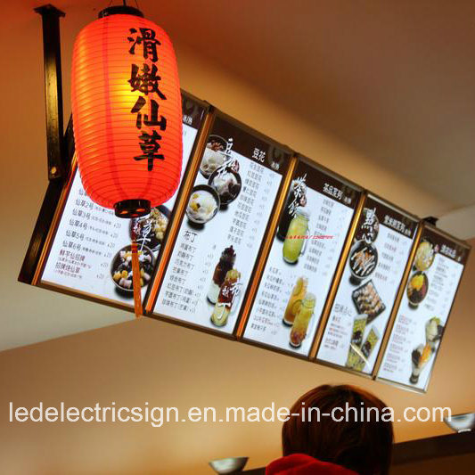 china advertisng material for slim led light box with restaurant