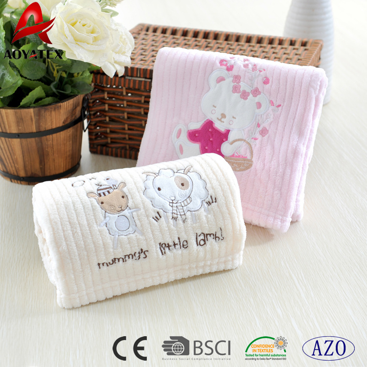172a4790ac2c Cartoon Pattern Sprout Flannel Fleece Soft Thick Baby Blanket with Low Price