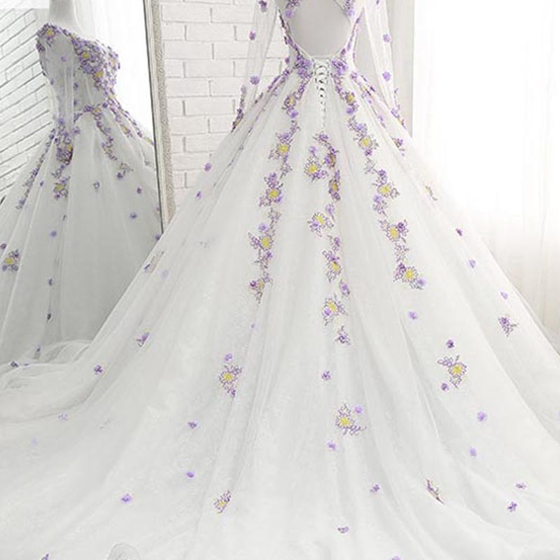 Lavender Wedding Dress And Flowers Fashion Dresses