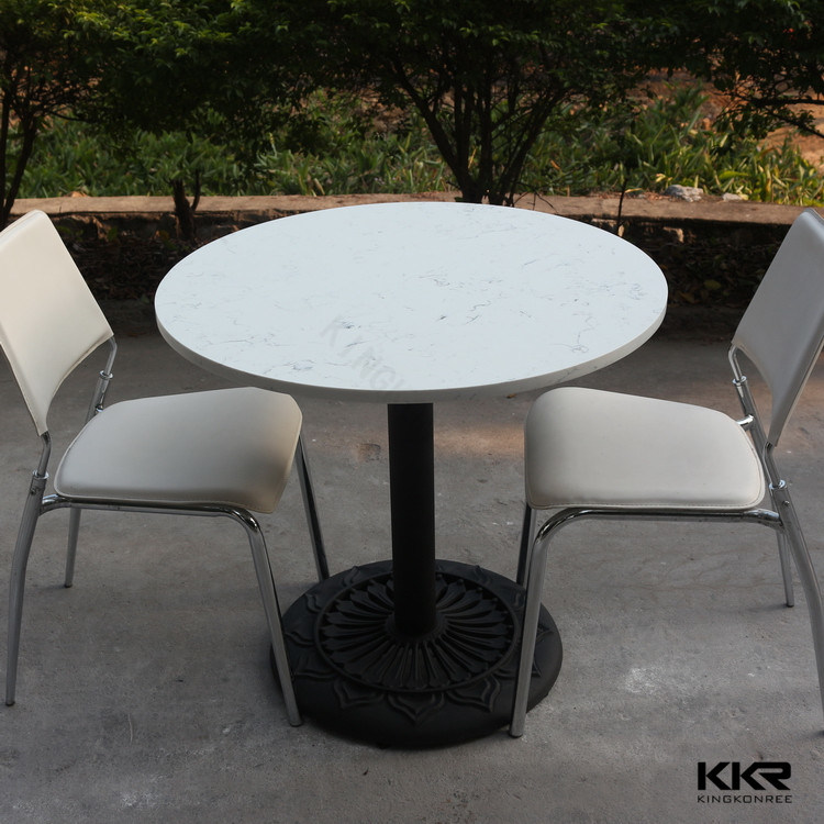 Hot Item 2 Person Round Solid Surface Fast Food Dining Table