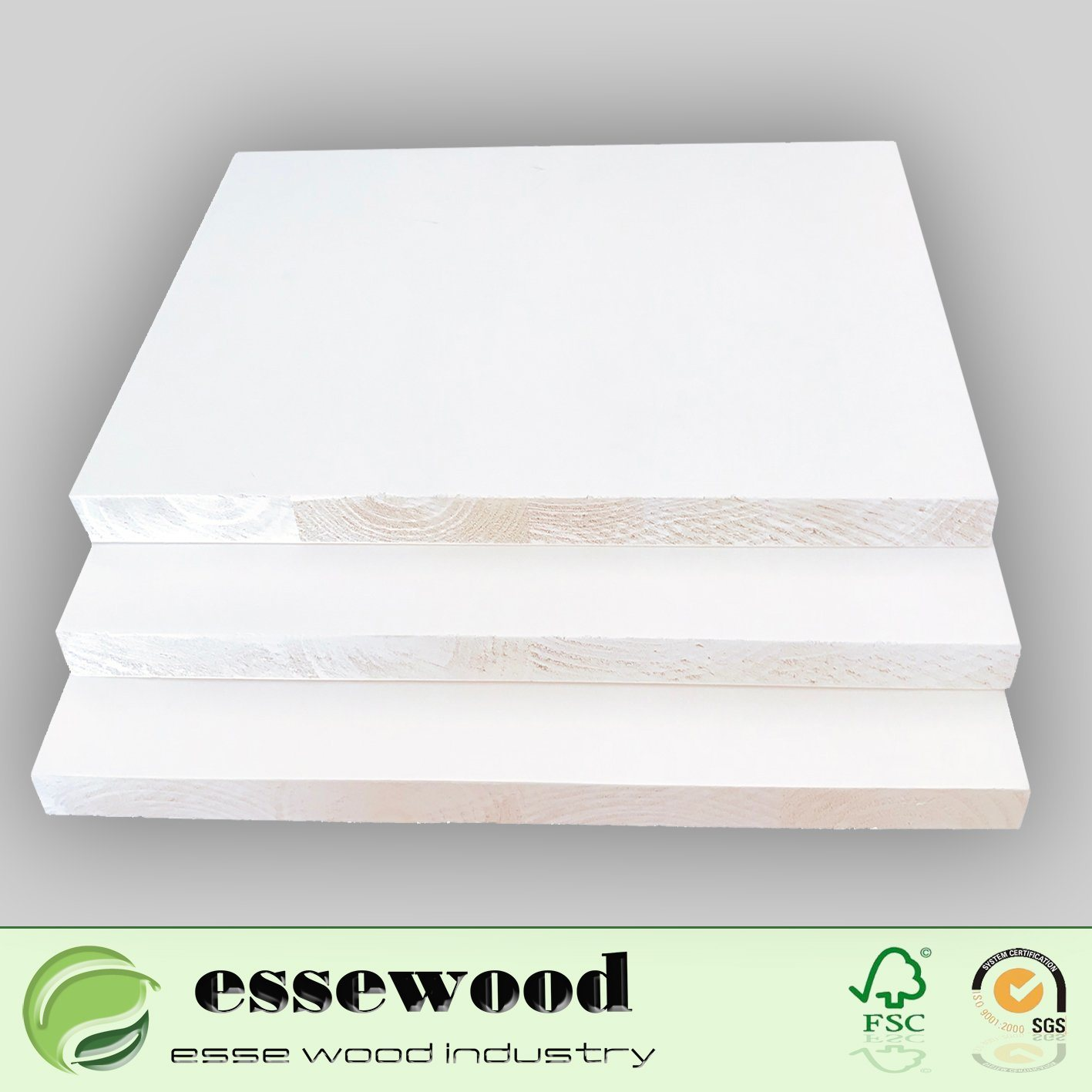 Wood Pine Finger Joint Flat Primed Door Stop Moulding Profile