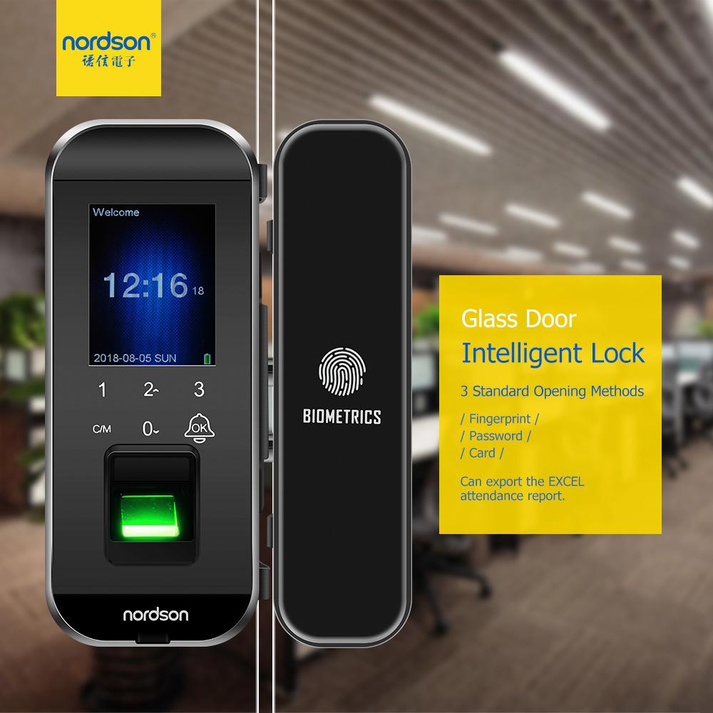 [Hot Item] 2 4 Inch Hight Sensor Frameless Glass Biometric Fingerprint  Magnetic Home Smart Door Lock