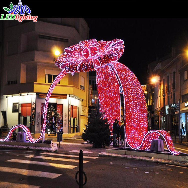 China Outdoor Holiday LED Professional Christmas Bow Decoration Motif Light - China Christmas Bow Lights, LED Christmas Decoration