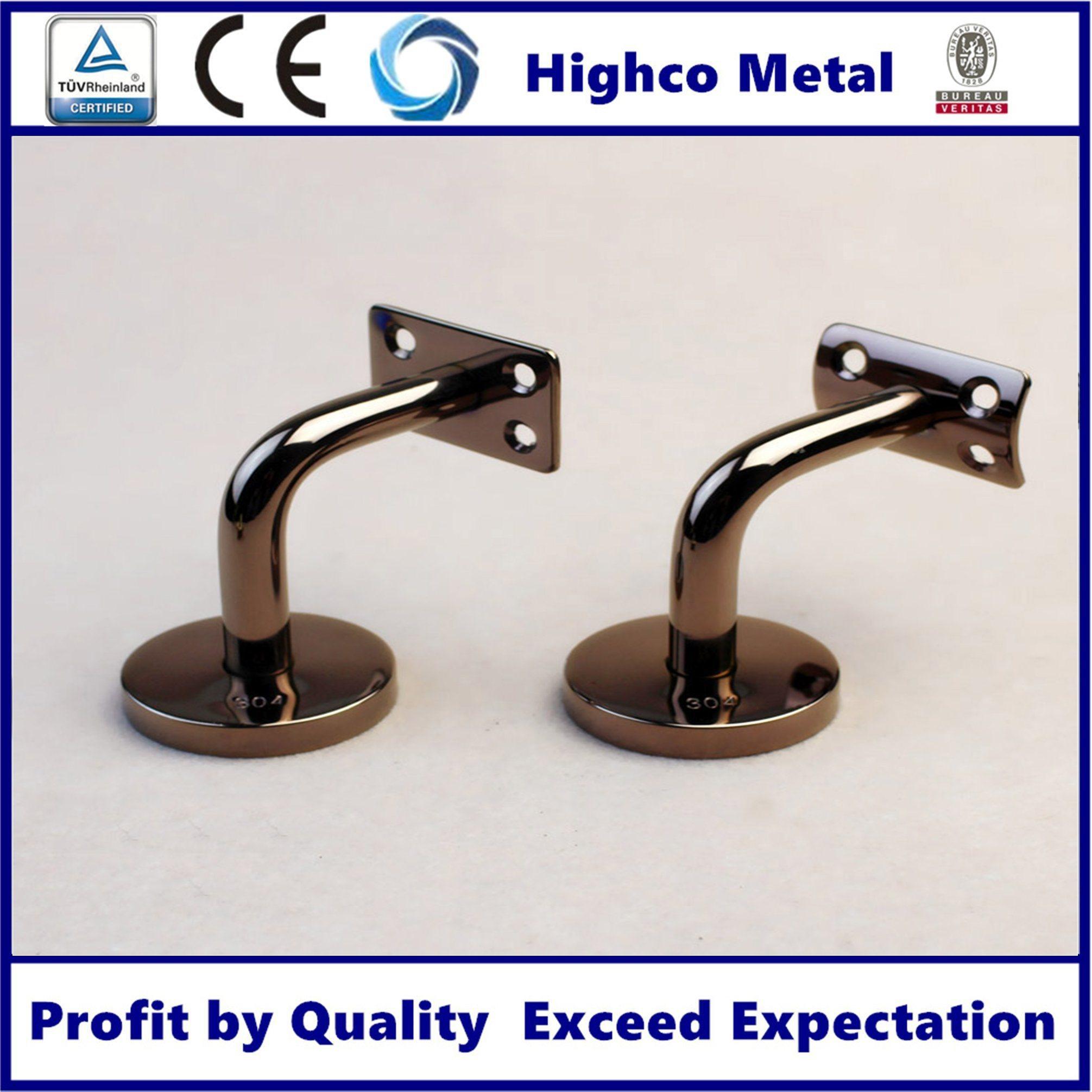 Hot Item Wall To Glass Stainless Steel Handrail Support Handrail Railing Glass Shelf Bracket