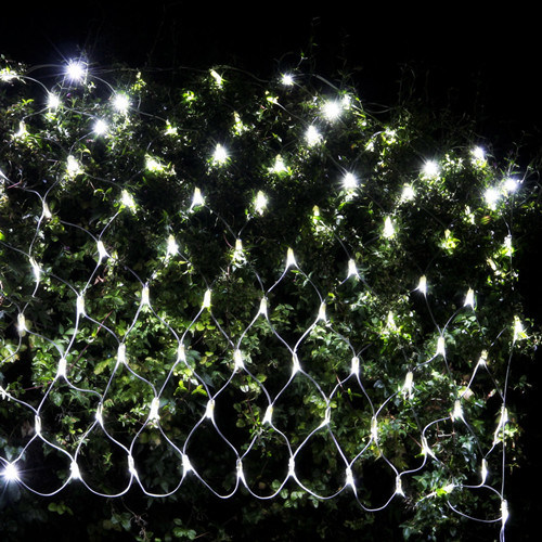 15x15m starry night garden led christmas white color net lights