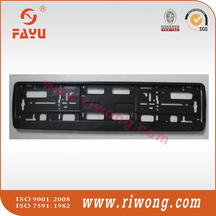 China Euro Size Custom Logo Print Plastic Car Number Plate Frame