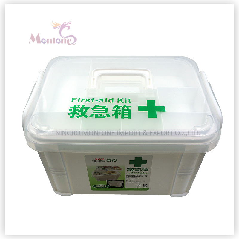 [Hot Item] 34*20*22cm Household Storage Medicine Chest, Plastic First-Aid  Kit