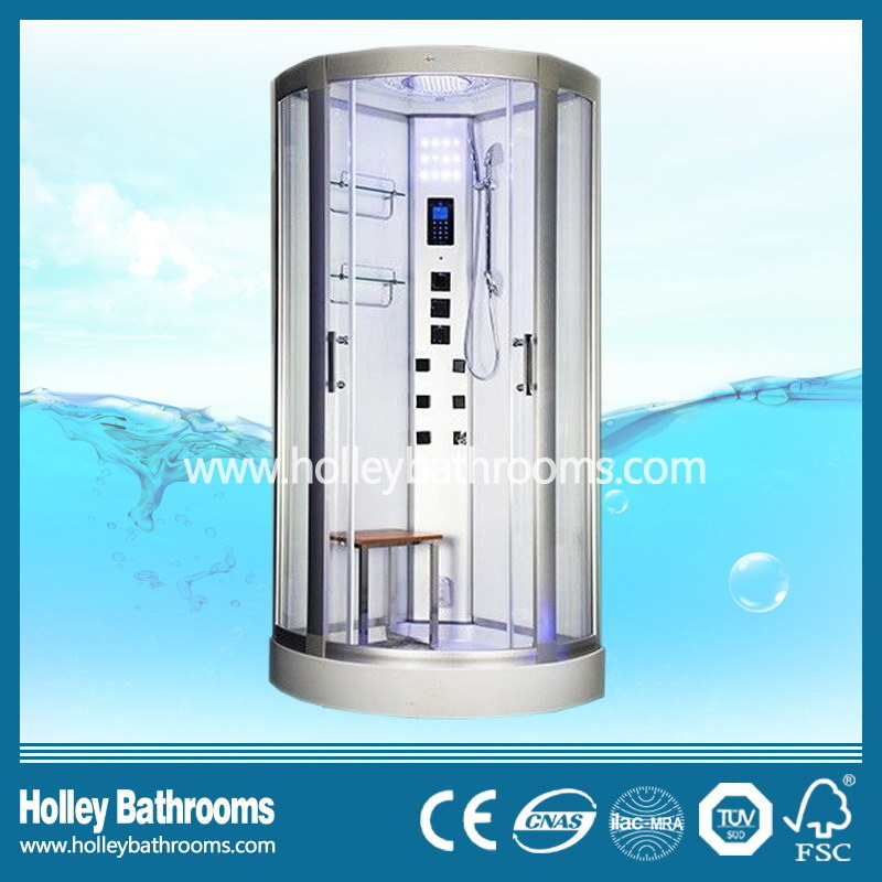 China Popular Computer Display Shower Cubicle with Heating Towel Bar ...