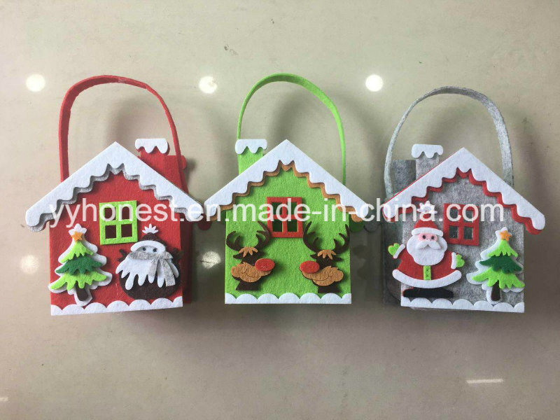 popular high quality wholesale felt christmas bag christmas felt gift bag