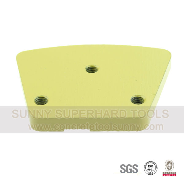 PCD Trapezoid Floor Diamond Grinding Pad Shoes Tools