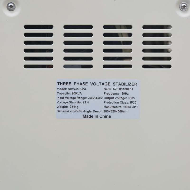Three Phase Voltage Stabilizer for Elevator Specific 20 kVA