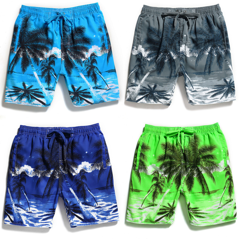62fbc47fb5 China Beach Trunks Quick Dry Swimwear Shorts Coconut Tree Printing Water Sports  Board - China Beach Shorts, Swimming Beach Shorts