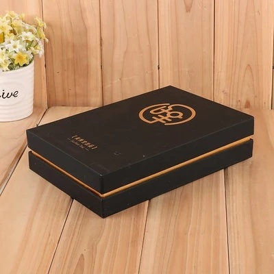 China Customized Creative Design Black Cardboard Gold Stamping