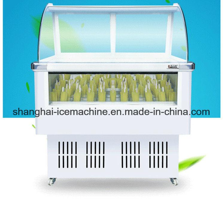 China Showcase Refrigeratorglass Door Ice Cream Display Freezer