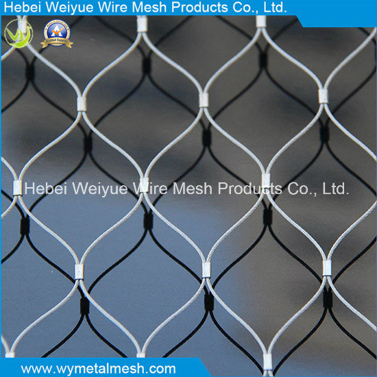 China Decorative Protection Stainless Steel Woven Wire Rope Mesh ...