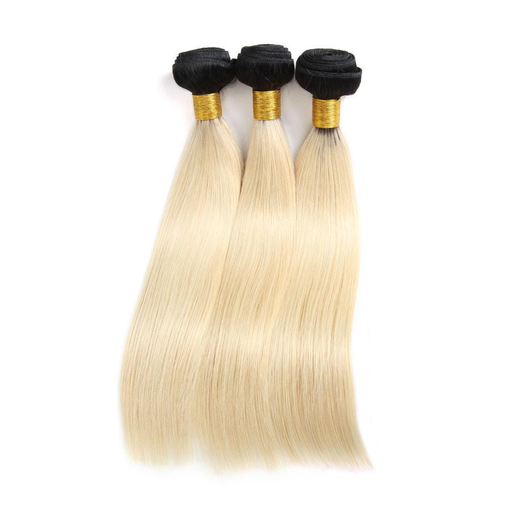 China Brazilian Virgin Hair Ombre Hair Weave Human Hair Bundles 1b