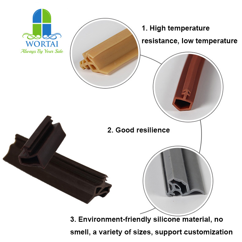 China Wooden Door and Window Frame Slot Silicone Rubber Seal Weather ...