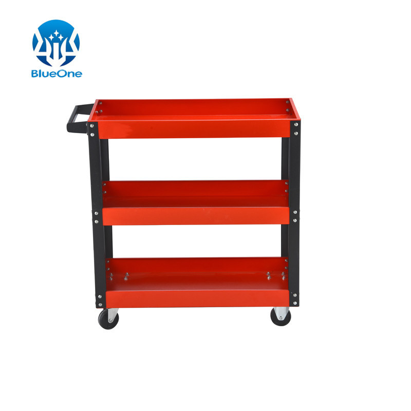 Tool Trolley Three Layer Single Handle Multicolor pictures & photos
