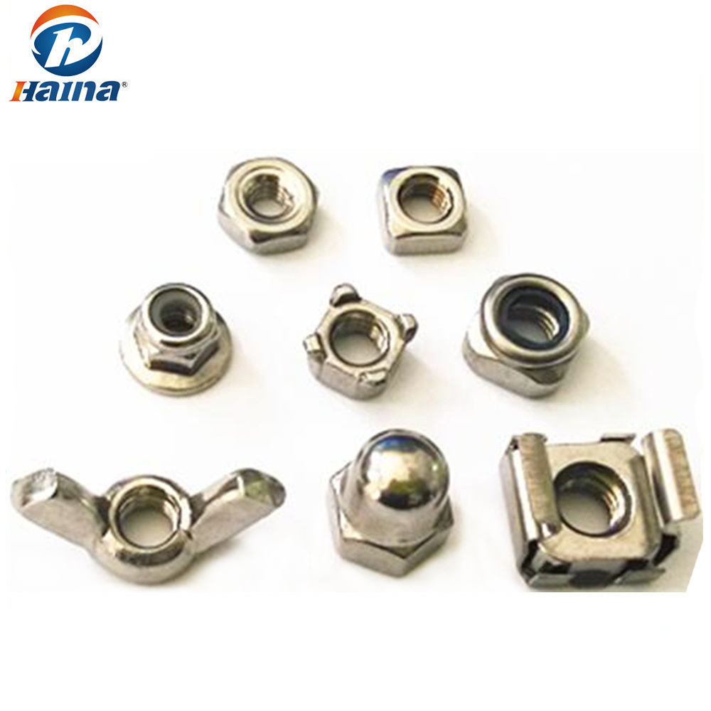 Stock Stainless Steel Square/Flange/Cap/Cage/Nylon Lock /Hex Nuts/Hex Head Nuts/Hexagon Nut/Bolts and Nuts (DIN934 DIN315 DIN928 DIN929 DIN1587 DIN985 DIN6923)