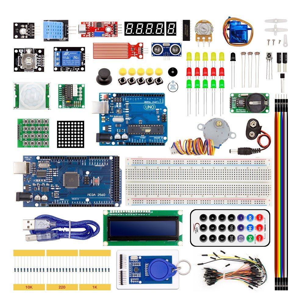 Starter Kit MEGA 2560 R3 Breadboard LED LCD SG90 jumper wire button for Arduino