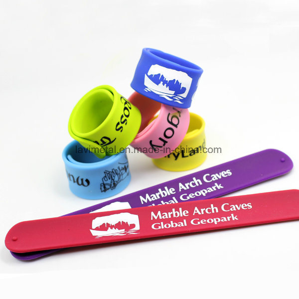 Custom Colourful Silicone Slap Ruler Bracelet pictures & photos