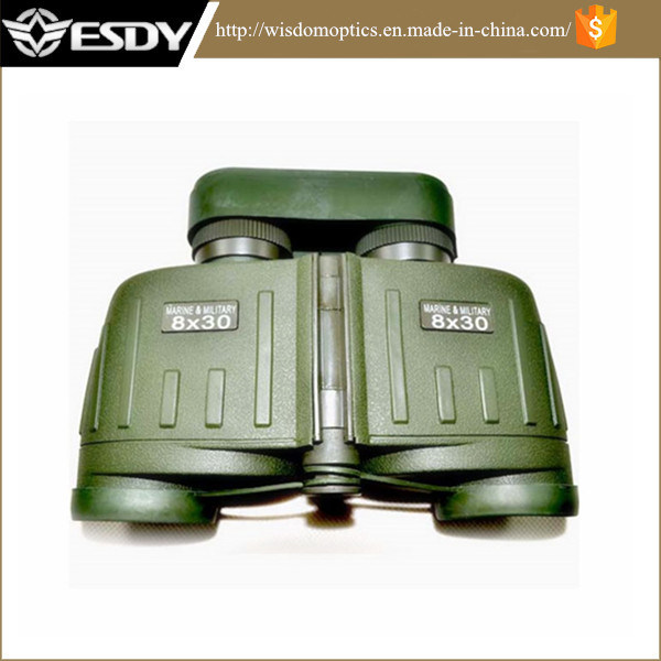 Military 8X30 Waterproof Binocular Telescope with Compass and Rangefinder