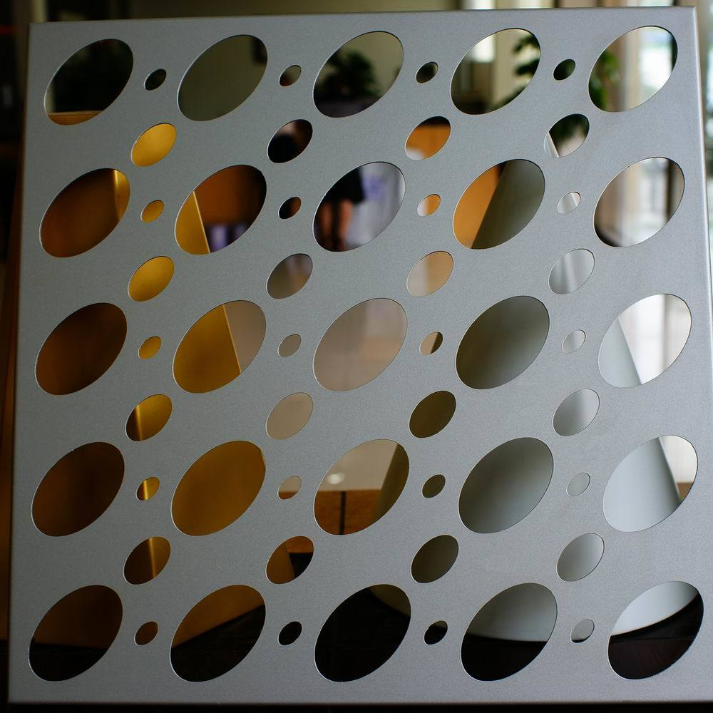 3D Eyes Pattern Perforated Aluminum Sheet for Column Cladding and Decoration pictures & photos