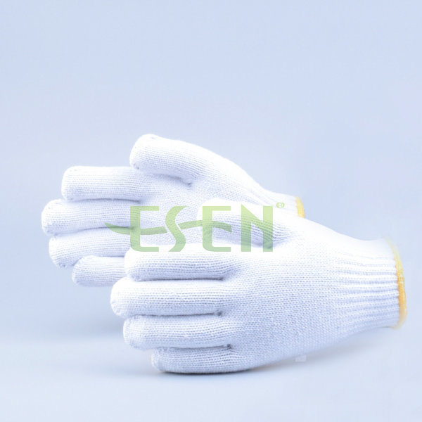 Safety Gloves Cotton Knitted Glove, High Quality Black Cotton Knitted Gloves for Industrial Work