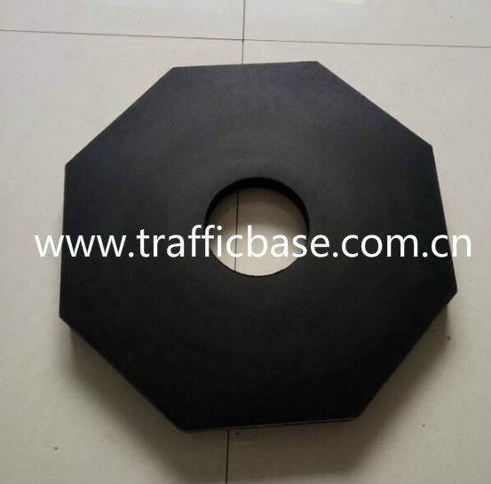 25lb Octagon Recycled Rubber Base for Traffic Cone pictures & photos