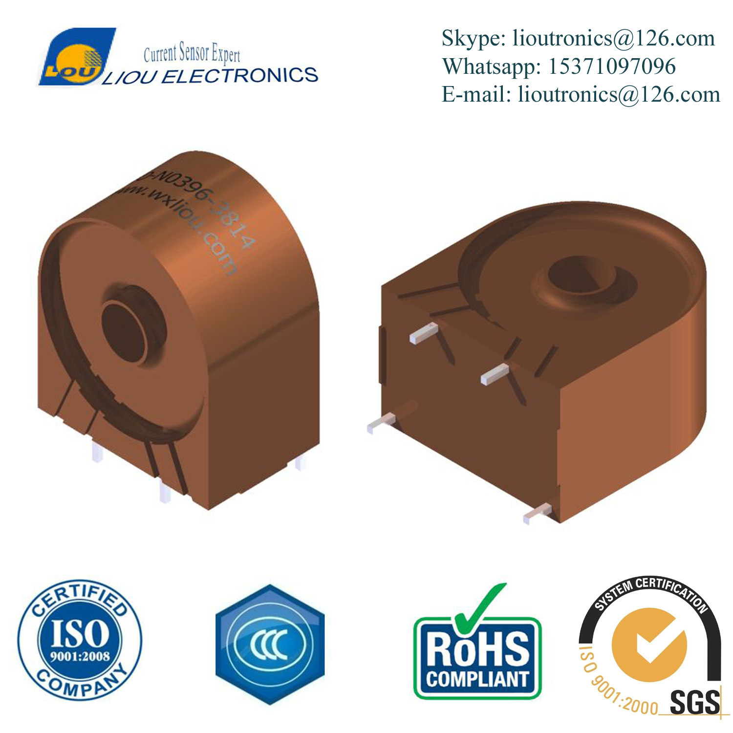 China 1 2500 High Frequency Wide Band Current Sensor Up To 30a Currentsensorcircuit1jpg Rogowski Coil Transformer Transducer
