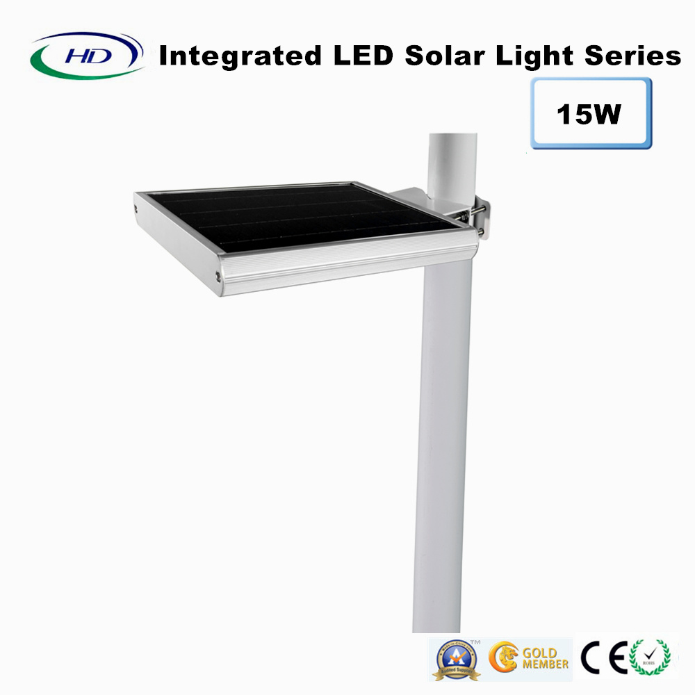 15W PIR Sensor Integrated LED Solar Garden Light pictures & photos
