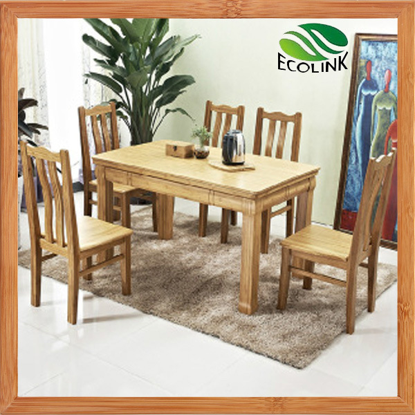 China Bamboo Furniture Set Dining Room Table Chair