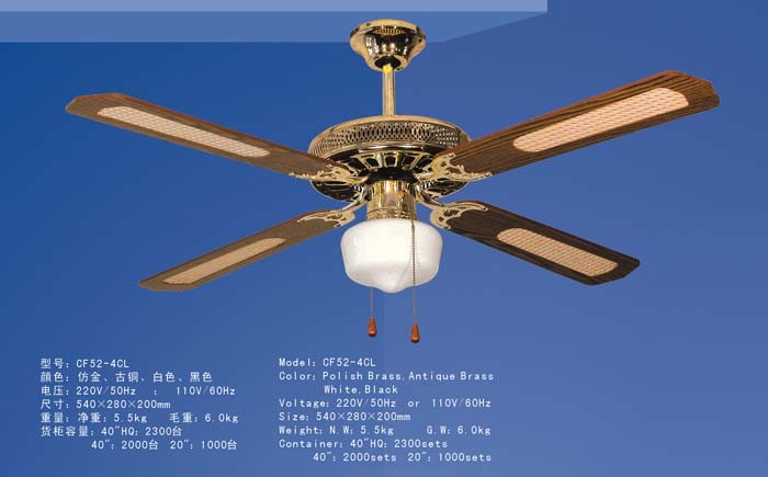 China Electric Ceiling Fan Cf52 4cl Products