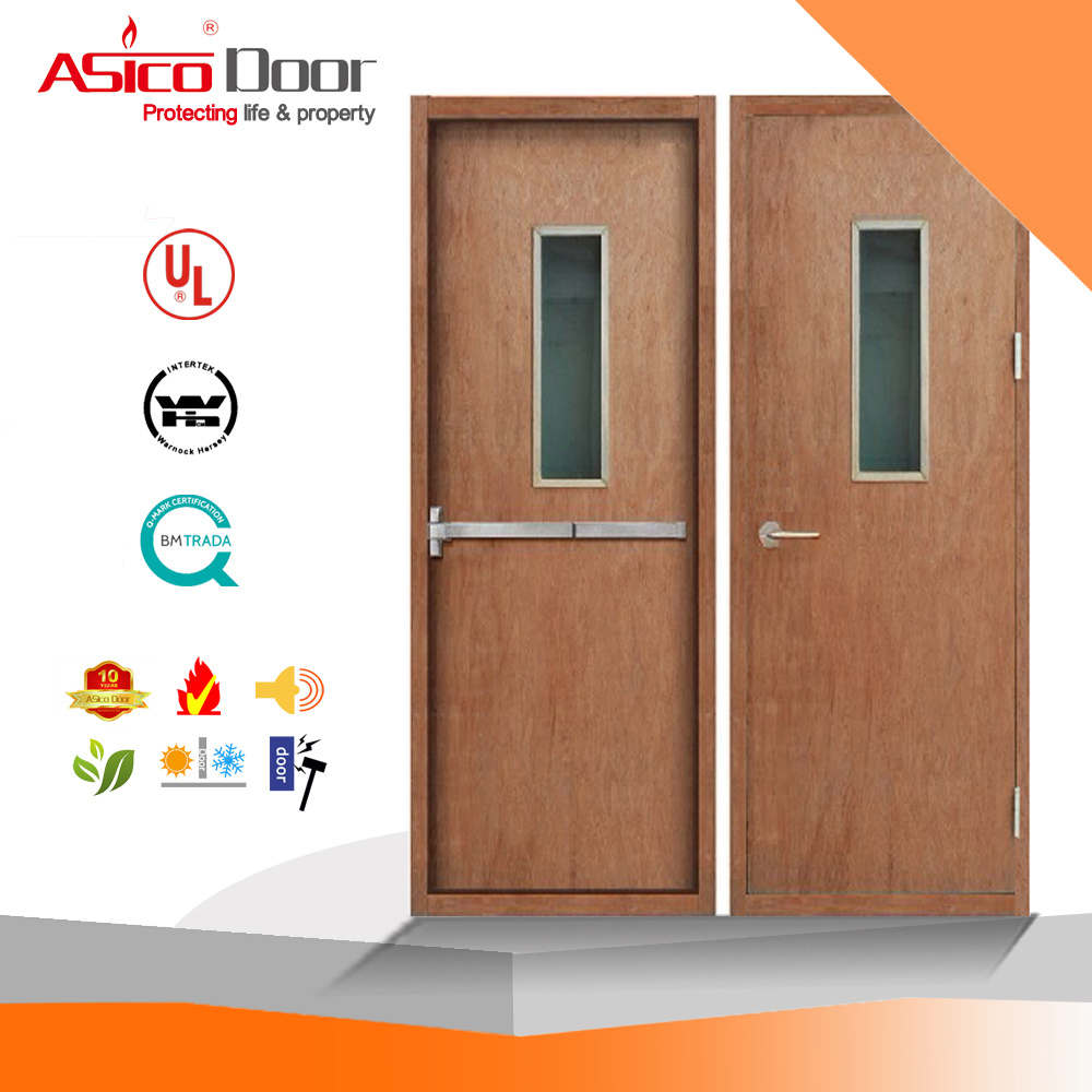 China Ul Wooden Fire Door Exterior Interior Rated Doors Solid