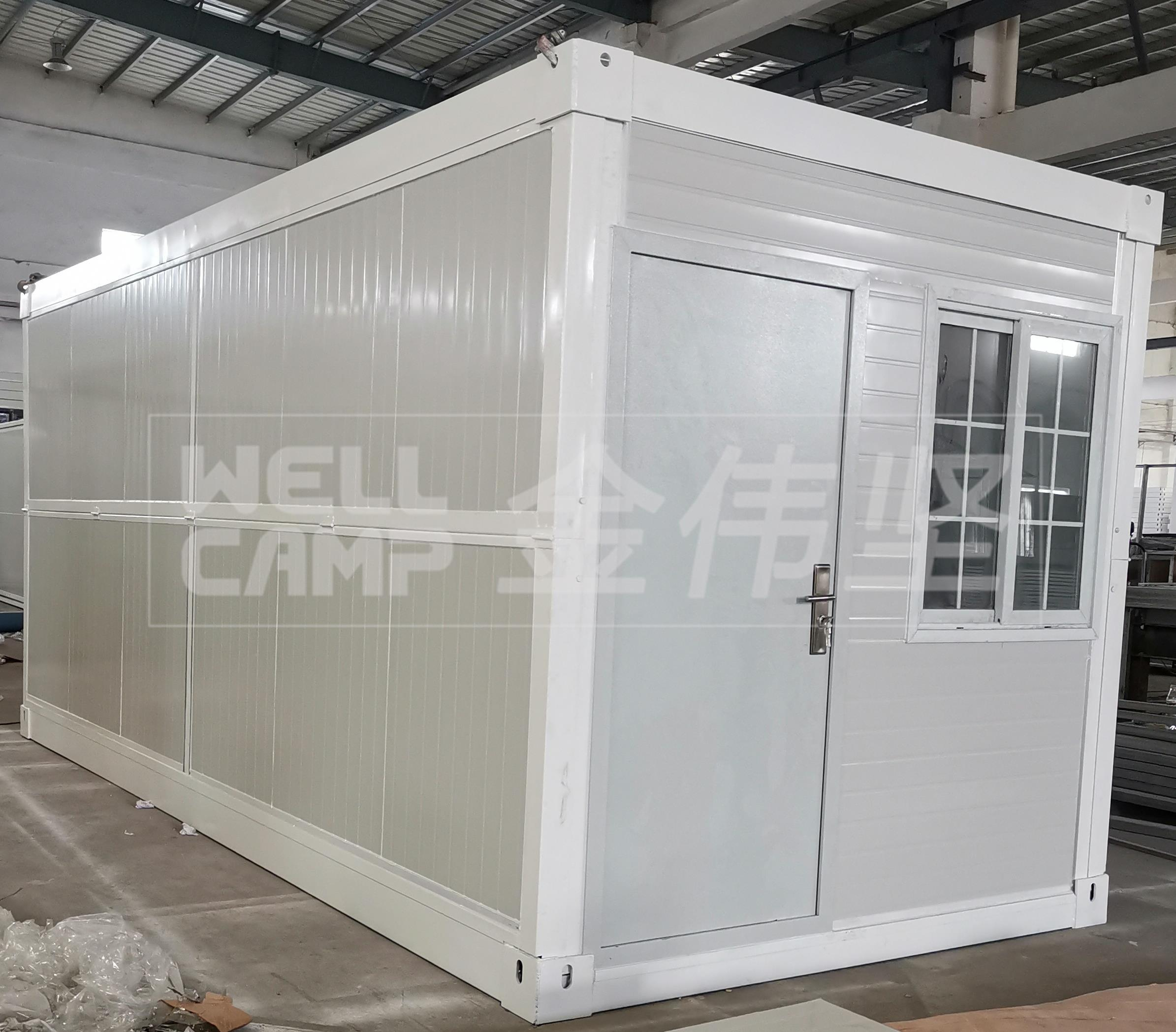 2020 New Portable Cabin Tiny Prefabricated Container House Folding Flat Pack Container House