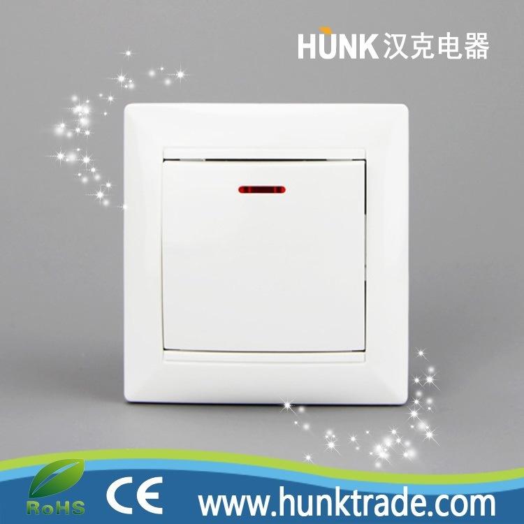 China European Type Push Button Switch, 1 Gang Lighting Switch ...