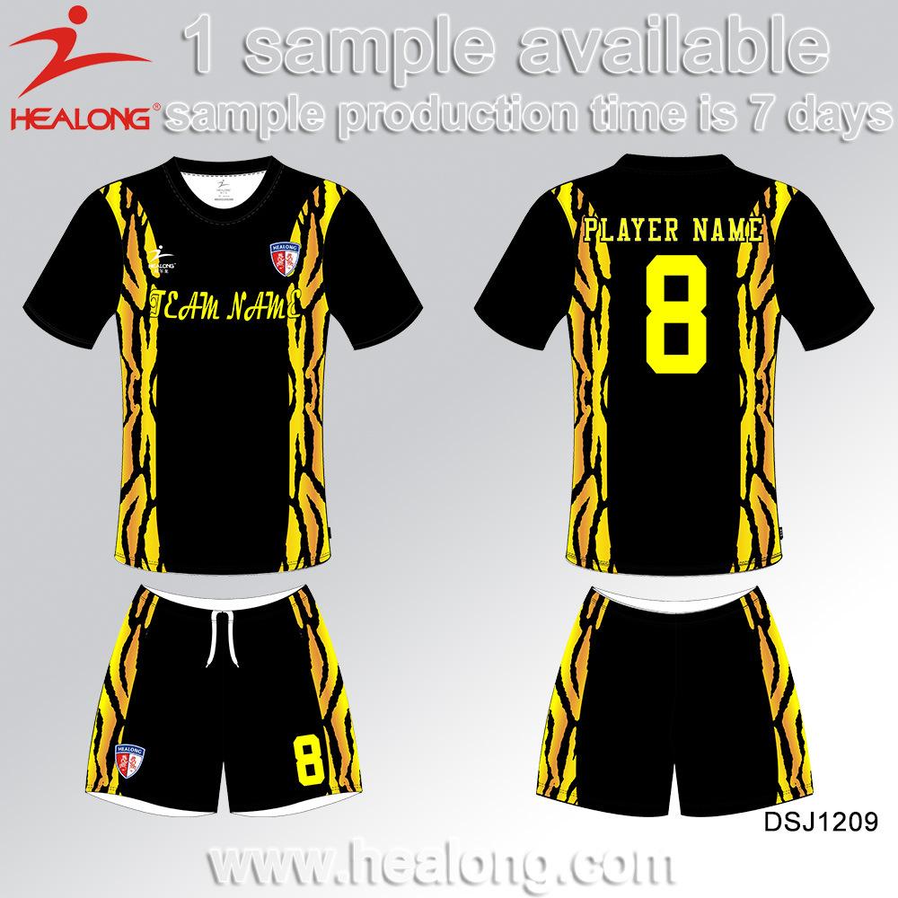 7f65c50c7e2 Healong Latest Design Clothing Gear Team Club Sublimation Soccer Uniform