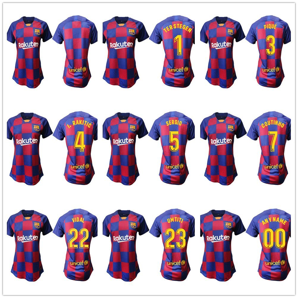 promo code b5c34 e1a95 [Hot Item] 2019 2020 Barcelona Messi Griezmann Soccer Jerseys Football  Shirt Kits