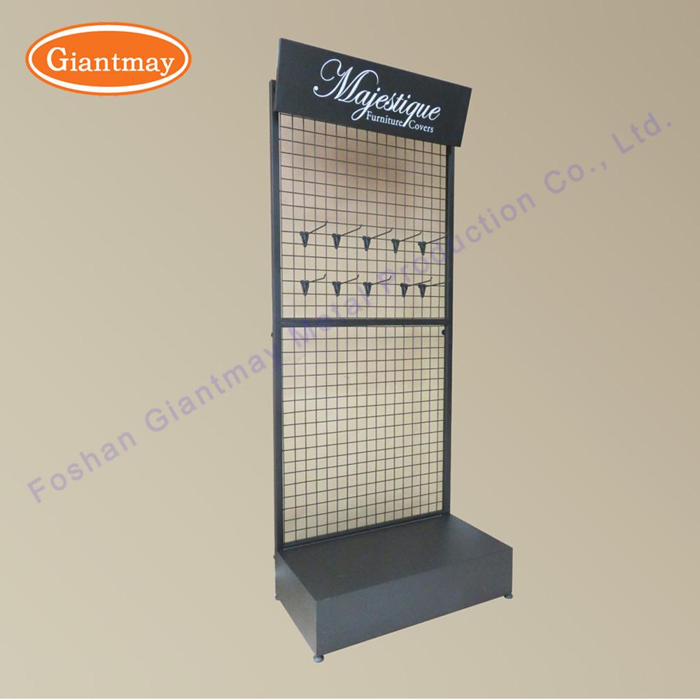 China Retail Metal Wire Floor Hanging Mesh Supermarket Metal Display ...
