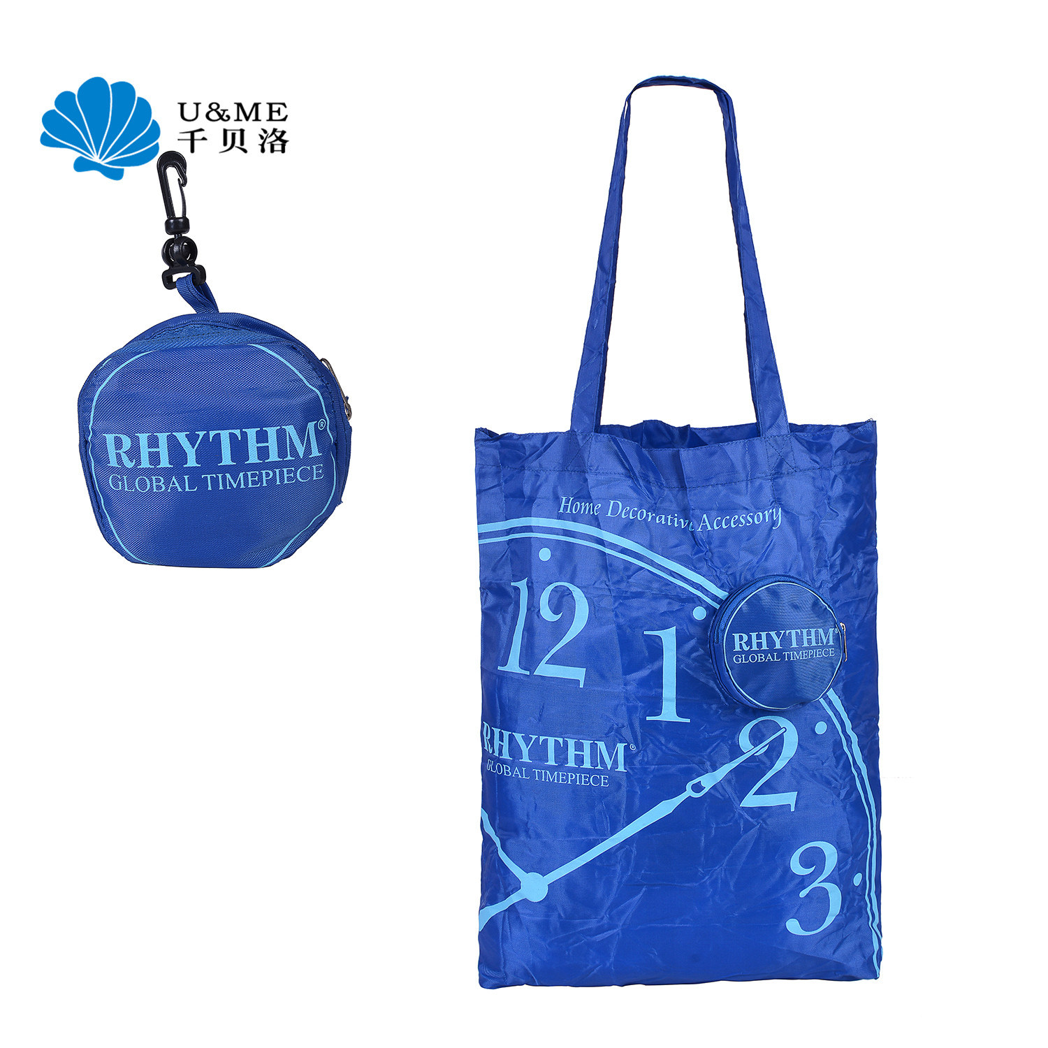 a2dfe8fcc94 China Custom 210d Foldable Promotional Gift Shopping Grocery Bag with Hook  - China Recycle Bag