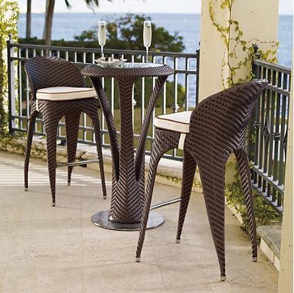 China Outdoor Garden Rattan Wicker Bar Table Chair Set - China Table ...